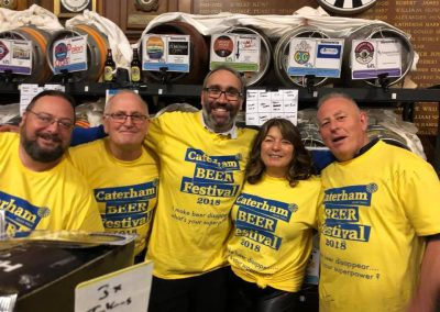 Bev, Mike and co, serving at the beerfest